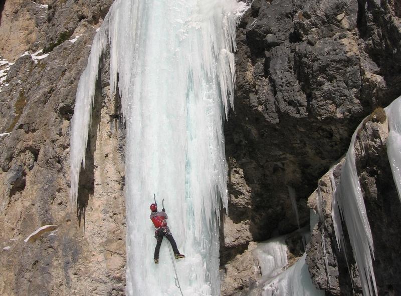 corso cascate di ghiaccio