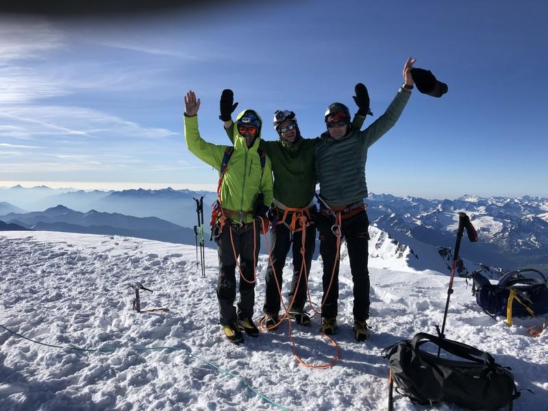 monte bianco dal rifugio gonella via normale italiana alpinismo guide alpine proup (45)