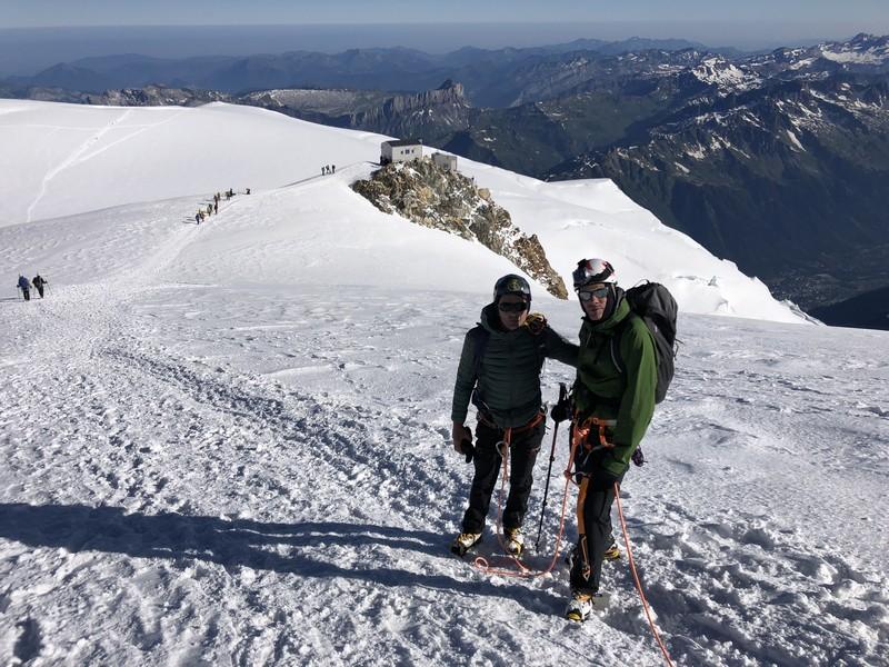 monte bianco dal rifugio gonella via normale italiana alpinismo guide alpine proup (46)