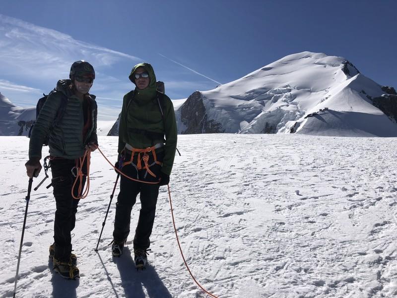 monte bianco dal rifugio gonella via normale italiana alpinismo guide alpine proup (49)