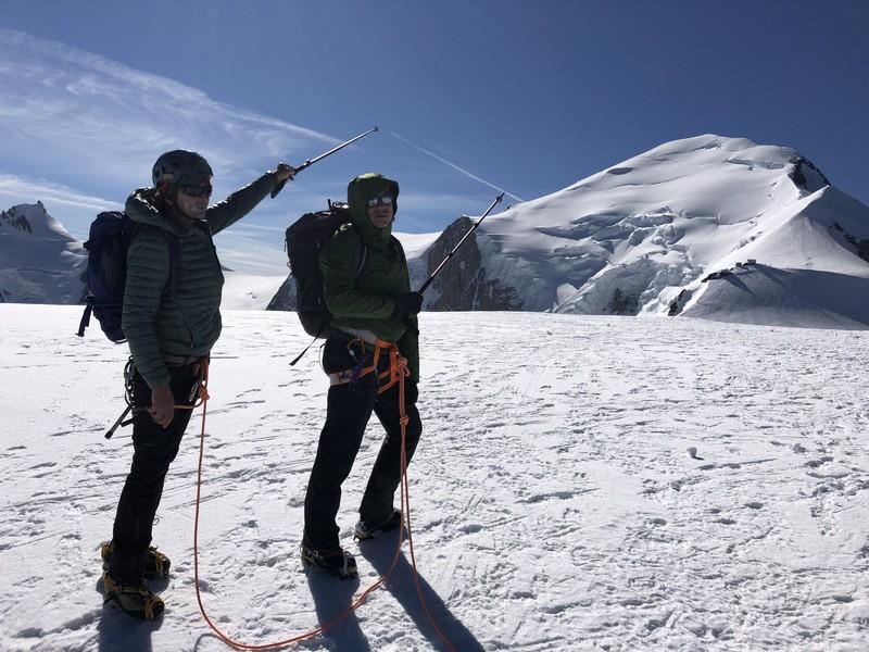 monte bianco dal rifugio gonella via normale italiana alpinismo guide alpine proup (50)