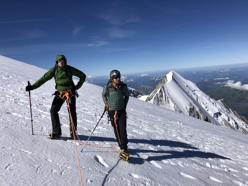 monte bianco dal rifugio gonella via normale italiana alpinismo guide alpine proup (51)