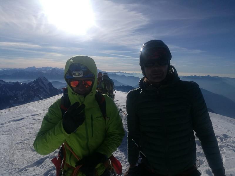 monte bianco dal rifugio gonella via normale italiana alpinismo guide alpine proup (52)