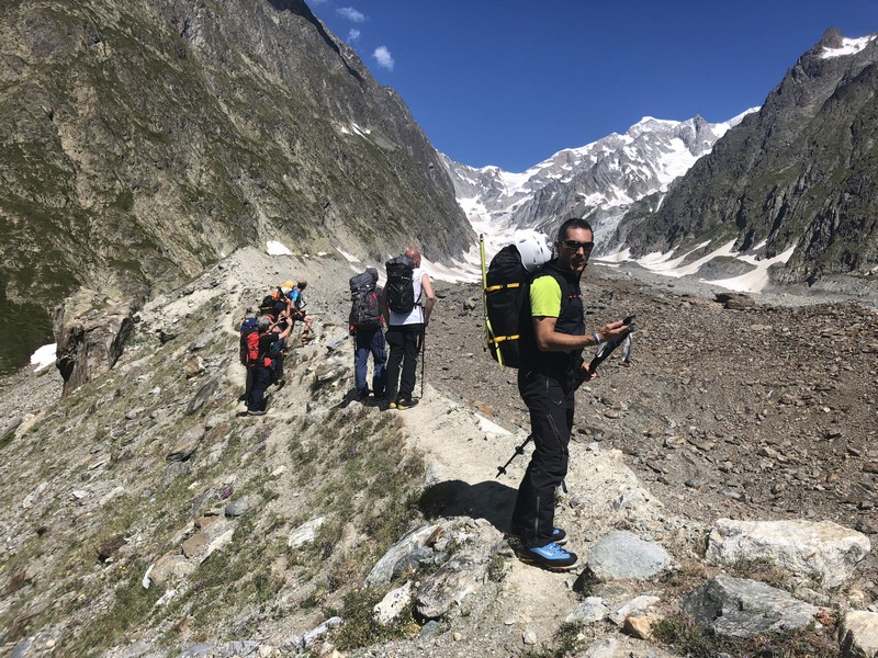 monte bianco dal rifugio gonella via normale italiana alpinismo guide alpine proup (56)