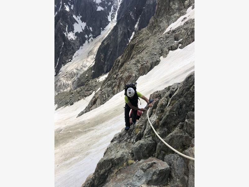 monte bianco dal rifugio gonella via normale italiana alpinismo guide alpine proup (63)