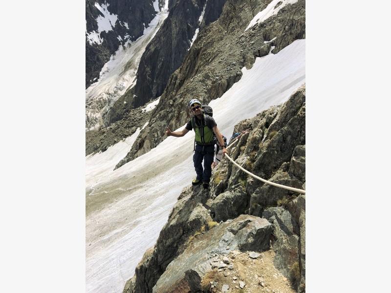 monte bianco dal rifugio gonella via normale italiana alpinismo guide alpine proup (66)