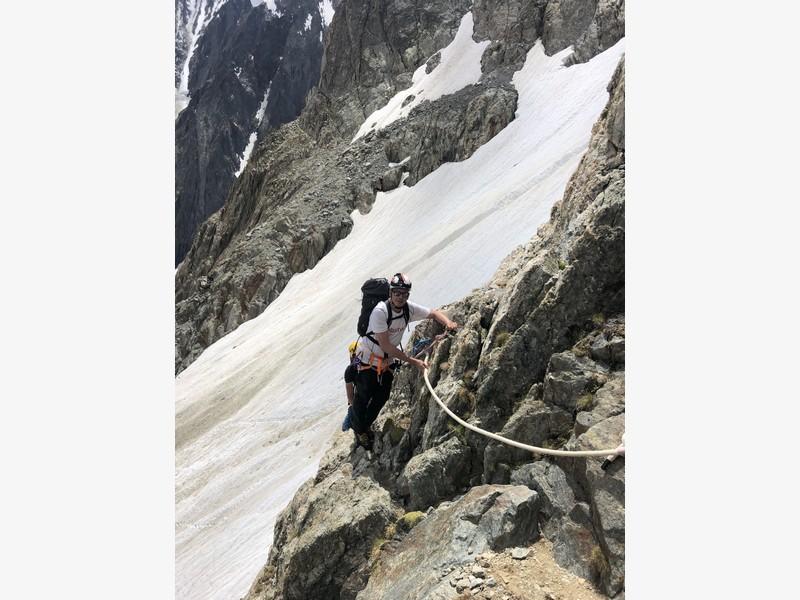monte bianco dal rifugio gonella via normale italiana alpinismo guide alpine proup (67)
