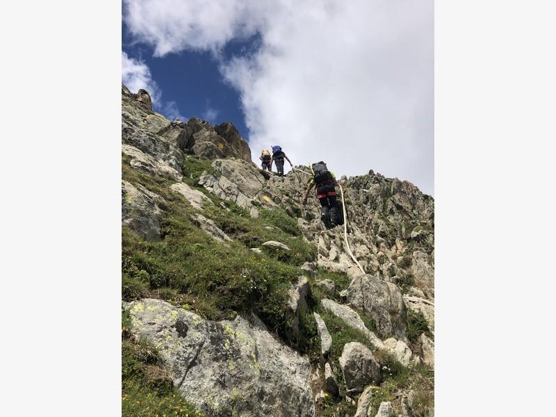monte bianco dal rifugio gonella via normale italiana alpinismo guide alpine proup (70)
