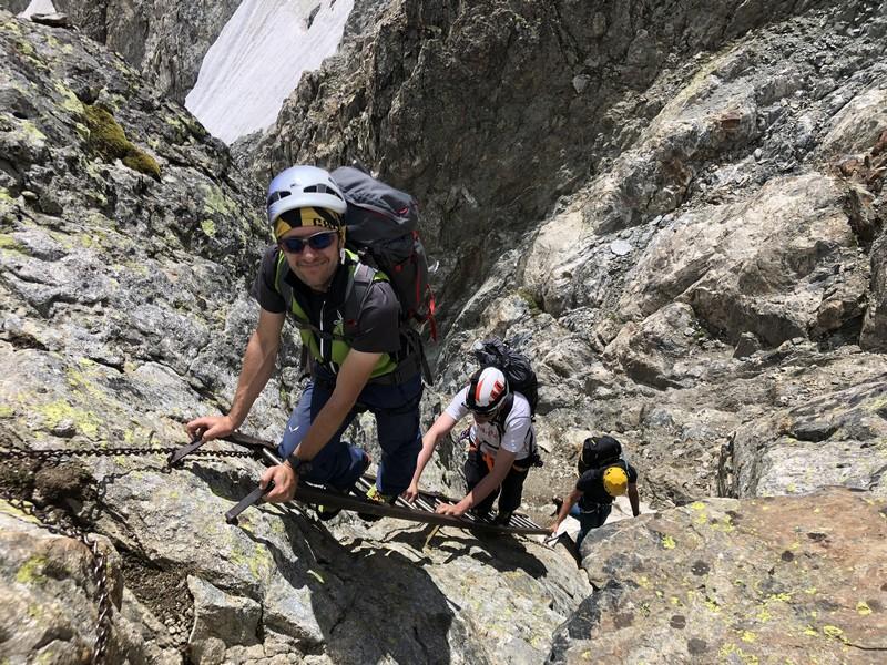 monte bianco dal rifugio gonella via normale italiana alpinismo guide alpine proup (72)