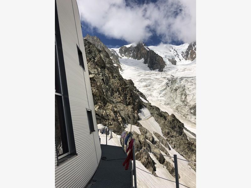 monte bianco dal rifugio gonella via normale italiana alpinismo guide alpine proup (78)
