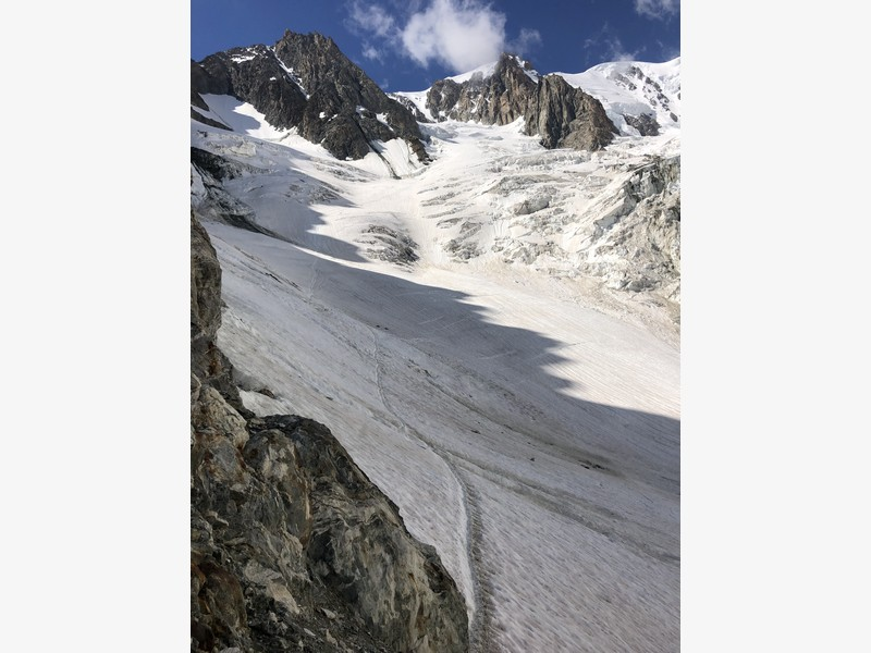 monte bianco dal rifugio gonella via normale italiana alpinismo guide alpine proup (81)