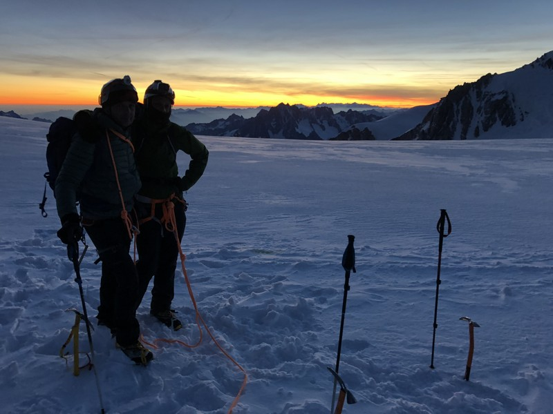 monte bianco dal rifugio gonella via normale italiana alpinismo guide alpine proup (84)