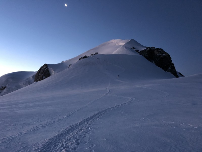 monte bianco dal rifugio gonella via normale italiana alpinismo guide alpine proup (85)