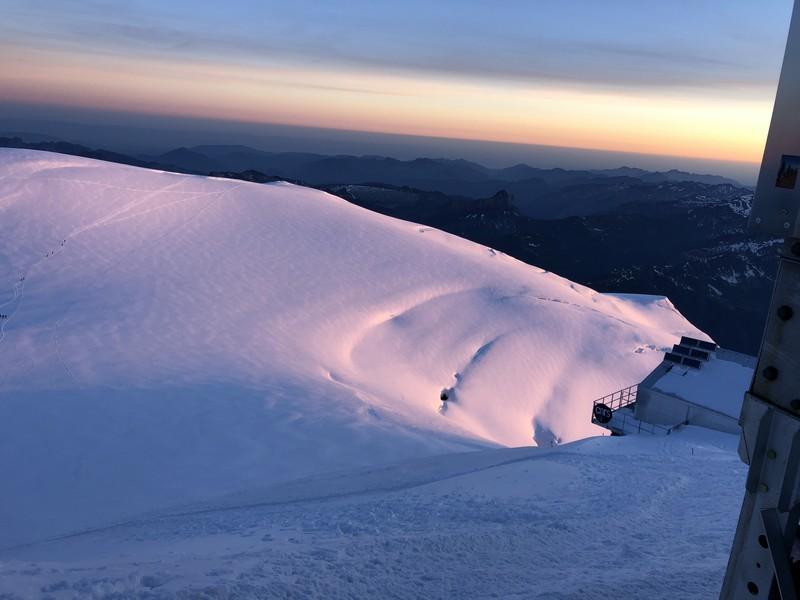 monte bianco dal rifugio gonella via normale italiana alpinismo guide alpine proup (88)