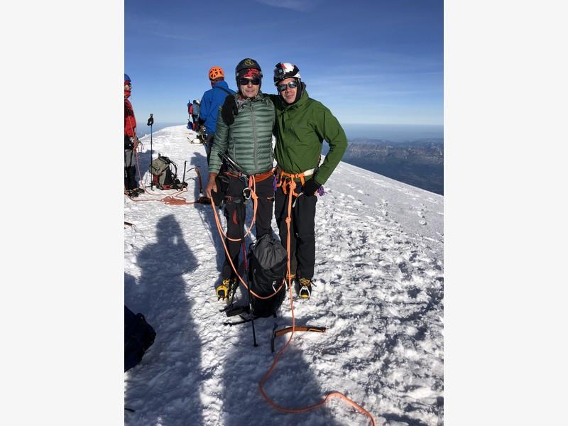 monte bianco dal rifugio gonella via normale italiana alpinismo guide alpine proup (89)