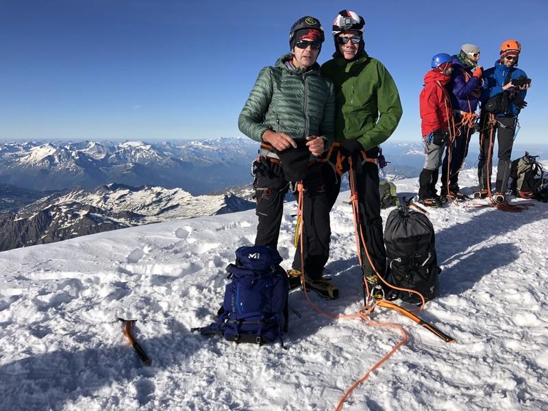 monte bianco dal rifugio gonella via normale italiana alpinismo guide alpine proup (91)