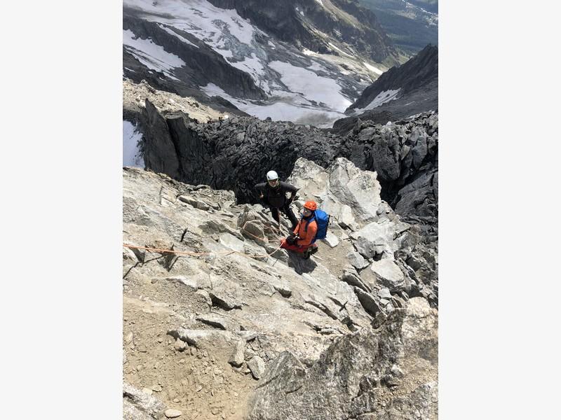 traversata aiguille marbrees guide alpine proup alpinismo arrampicata (15)