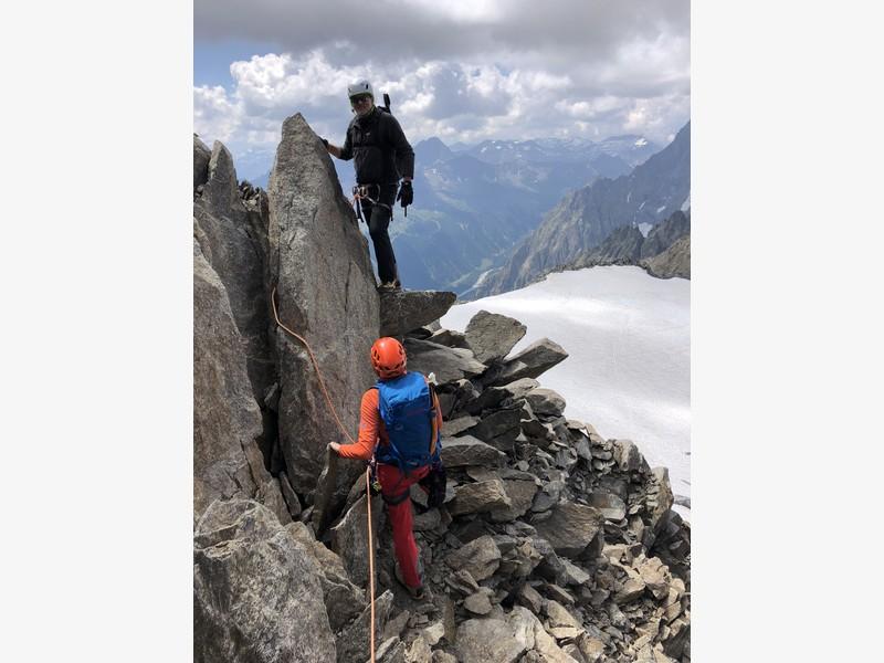 traversata aiguille marbrees guide alpine proup alpinismo arrampicata (19)