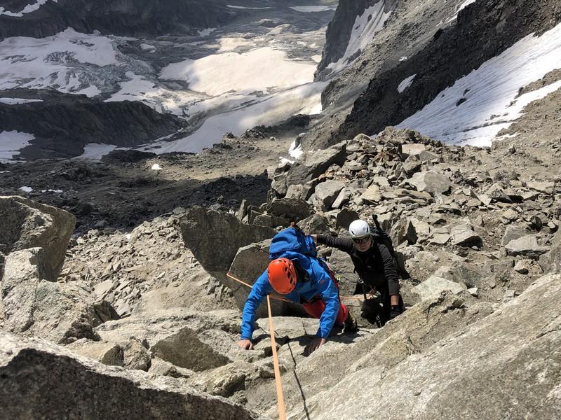 traversata aiguille marbrees guide alpine proup alpinismo arrampicata (25)