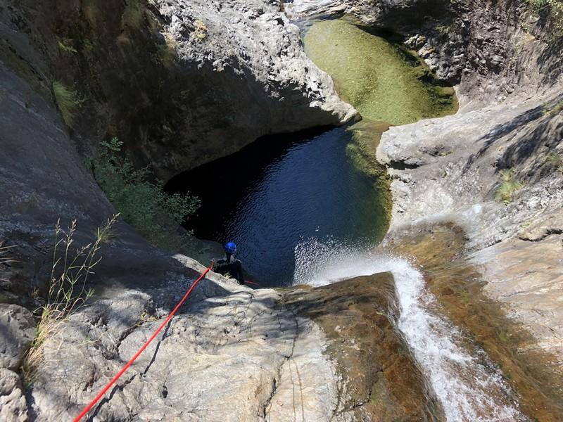 canyoning rio del ponte premosello guide alpine proup (12)