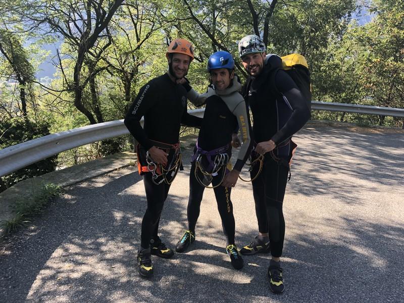 canyoning rio del ponte premosello guide alpine proup (27)