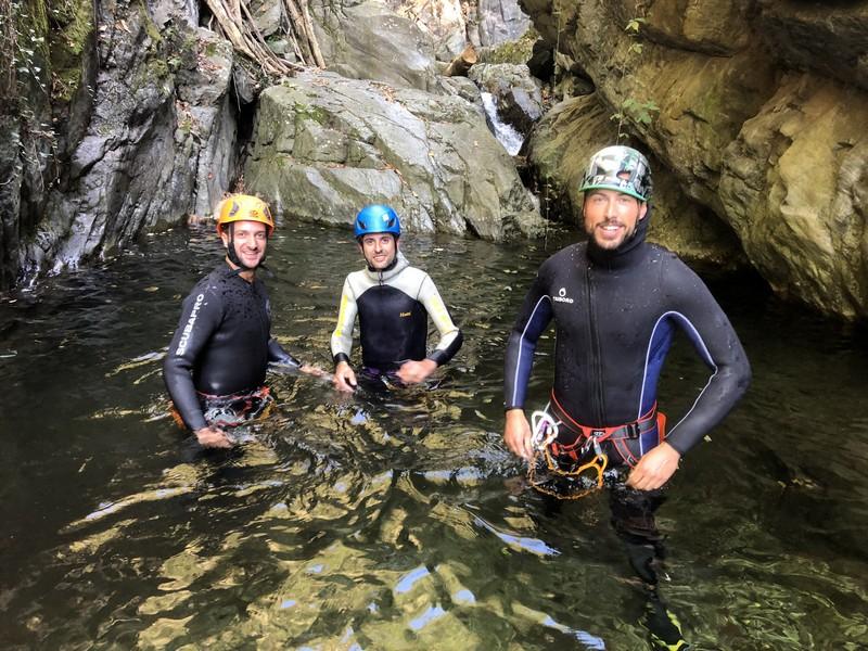 canyoning rio del ponte premosello guide alpine proup (28)