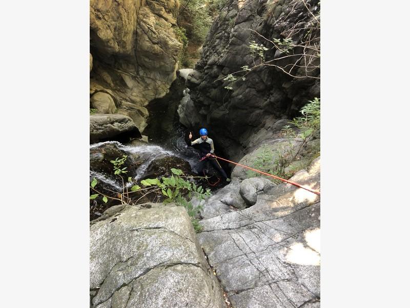 canyoning rio del ponte premosello guide alpine proup (29)