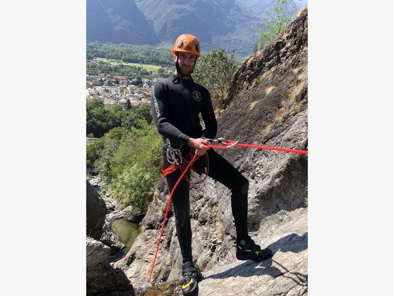 canyoning rio del ponte premosello guide alpine proup (9)